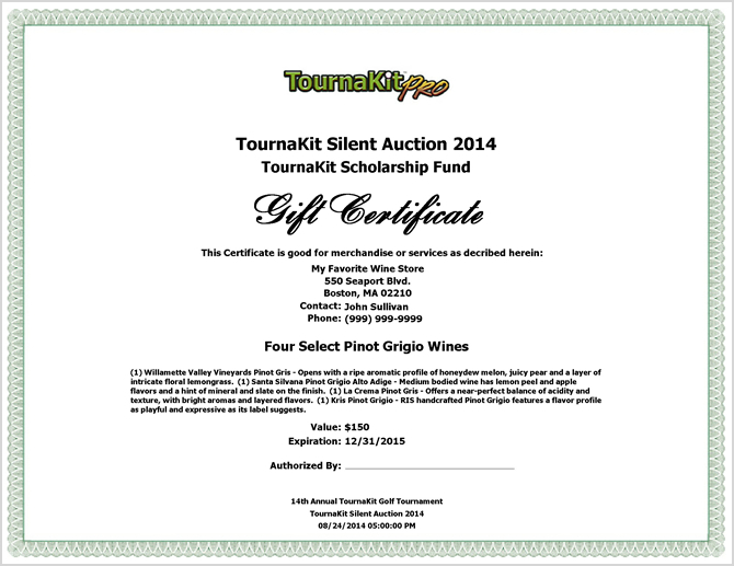 Donation Certificate Template Example Driver Appreciation – Sample Silent Auction Bid Sheet