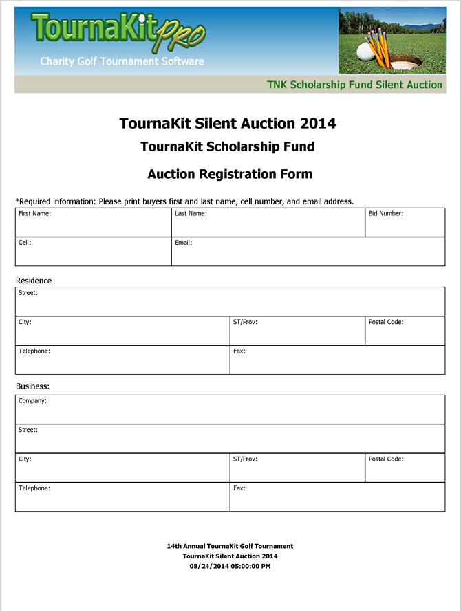 Charity auction forms images 108 silent auction bid sheet templates auction registration form templates thecheapjerseys Choice Image