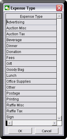 Charity Golf Tournament Software Expense Types